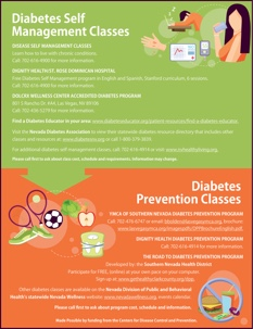 Image: Diabetes Self Managment and Prevention Classes - Flyer