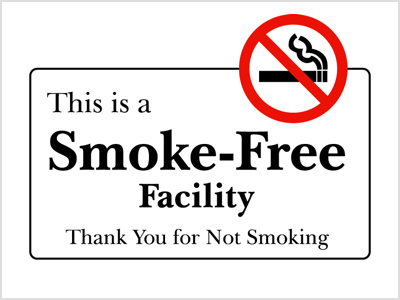 picture about Free Printable No Smoking Signs named Tobacco No cost General public Destinations - Choose Nutritious Clark County